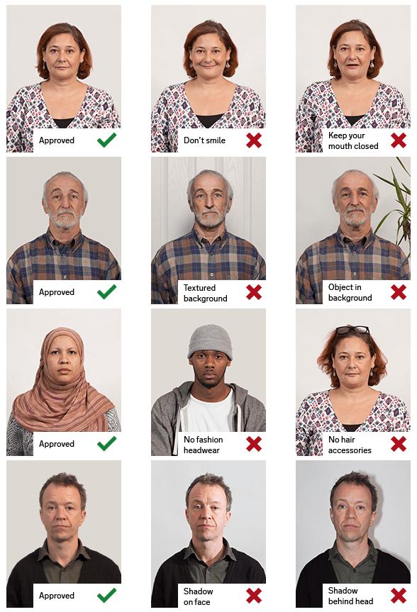 Ejemplos Foto Digital Pasaporte Británico